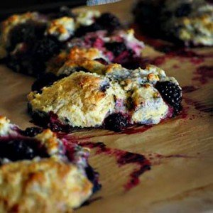 marion blackberry scones just removed from the oven