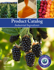 Stahlbush Island Farms Product Catalog