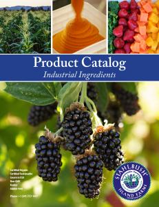 Stahlbush Island Farms Product  Catalog