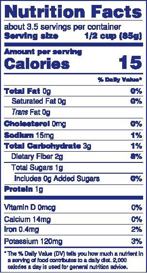 Riced Cauliflower Nutrition
