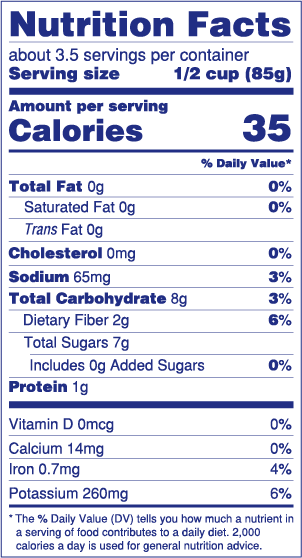 Sliced Beets Nutrition Facts