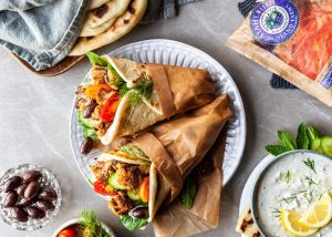Vegan Cauliflower Gyros Branded by Bronwyn Fraser