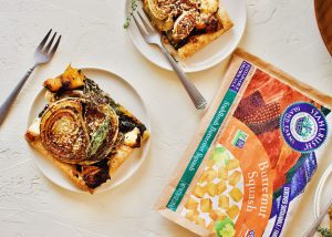 Caramelize onion Butternut Tart