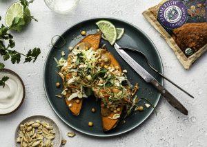 16 x 9 Branded Thai Peanut Sweet Potatoes with Crispy Chickpeas Stahlbush Island Farms Frozen Chickpeas