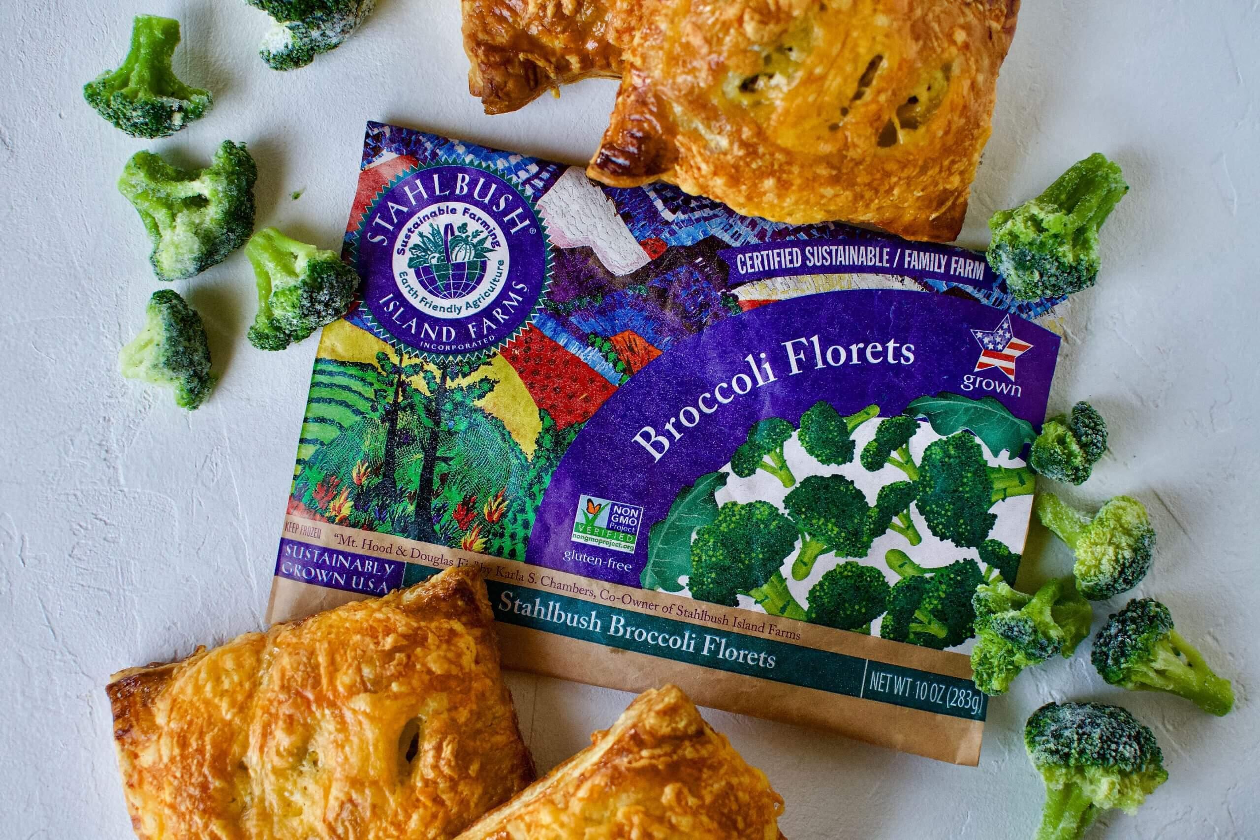 Broccoli Cheddar Puff Pastry Hand Pies Stahlbush Island Farms Frozen Broccoli